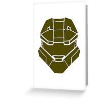 Spartan Helmet Greeting Card
