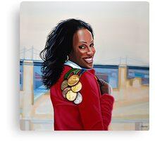 Jackie Joyner Kersee painting Canvas Print