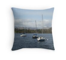 Boats on Windermere Throw Pillow