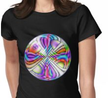 Rainbow Dreams .. a crystal ball Womens Fitted T-Shirt