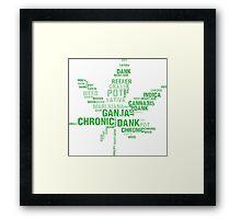 Weed Slang Framed Print