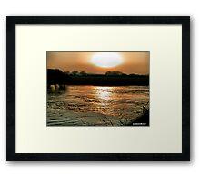 Sunset Over The Stour -Dorset Framed Print