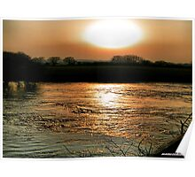 Sunset Over The Stour -Dorset Poster