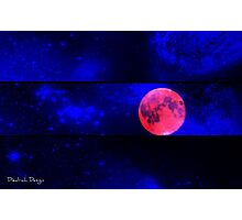 Red Moon Rising Photographic Print