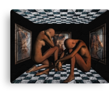 Trapped In Her Image Canvas Print