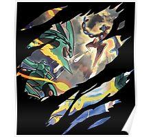 pokemon rayquaze deoxys anime manga shirt Poster