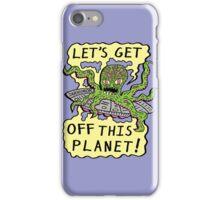 Alien UFO Escape iPhone Case/Skin