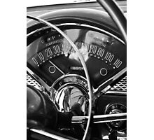 '55 Chevy Bel Air Gauges Photographic Print