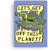 Alien UFO Escape Canvas Print