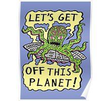 Alien UFO Escape Poster