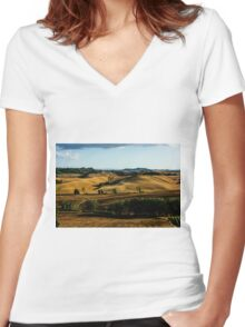 Tuscany FI5_1810 Women's Fitted V-Neck T-Shirt