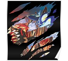 pokemon groudon kyogre anime manga shirt Poster