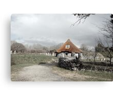 ancient rustic cottage Canvas Print