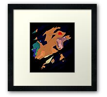 pokemon charizard angry seismic anime manga shirt Framed Print