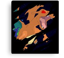 pokemon charizard angry seismic anime manga shirt Canvas Print