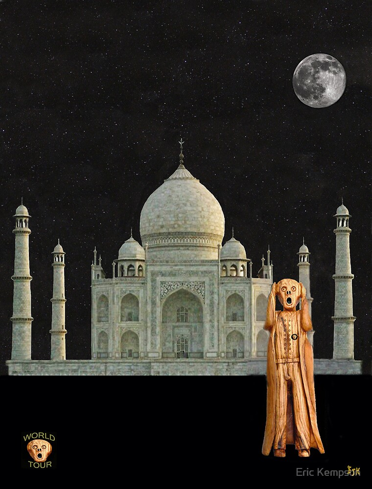 The Scream World Tour India Taj Mahal by Eric Kempson