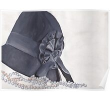 Vintage Hat and Pearls Poster