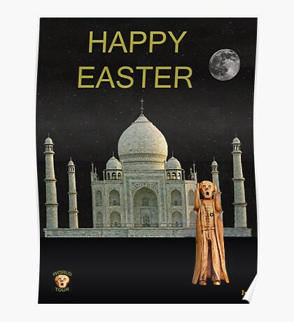 The Scream World Tour India Taj Mahal Happy Easter Poster