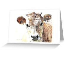Jersey Milk Cow Greeting Card
