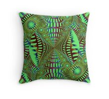 The abstract roundtrip Throw Pillow