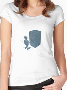 Speaker Explode   Women's Fitted Scoop T-Shirt