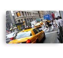 New York City Cab's Canvas Print