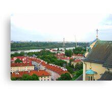 Old Town Warszawa Polska Canvas Print