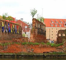 Gdańsk Ruins - Colorful Flags by KevinsView