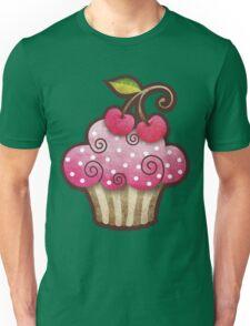 Cherry Berry Cupcake Unisex T-Shirt