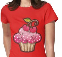 Cherry Berry Cupcake Womens Fitted T-Shirt