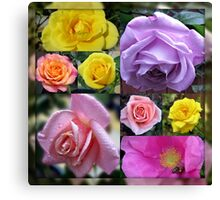 Just Roses Collage Canvas Print