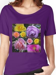 Just Roses Collage Women's Relaxed Fit T-Shirt