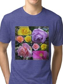 Just Roses Collage Tri-blend T-Shirt