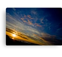 Beautiful Birthday Sunset Canvas Print