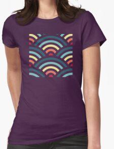 rainbowaves (dark) Womens Fitted T-Shirt