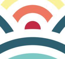 rainbowaves (dark) - pattern Sticker