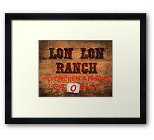 Legend of Zelda - Lon Lon Ranch Sign Framed Print