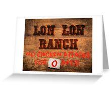 Legend of Zelda - Lon Lon Ranch Sign Greeting Card