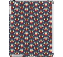 rainbowaves (dark) - pattern iPad Case/Skin