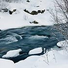 By the snowy river by Stefán Kristinsson