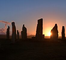 Sunset Flare, Calanais by Tim Haynes