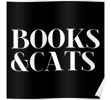 Books & Cats (inverted) Poster