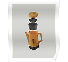 Yellow Coffee Pot Poster