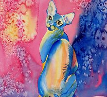 Sphynx Cat 2 by Yvonne Carter