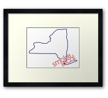 Smoke Local Weed in New York City (NYC) Framed Print