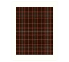 00404 Beanpole Brown Trial Tartan Art Print