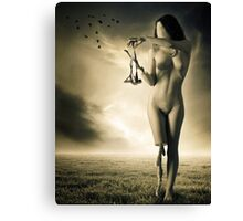 And Let The Crows Eat Your Eyes Canvas Print