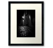 Old Kipper Shop Street Framed Print