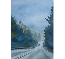 Between the Showers on HWY 101 Photographic Print