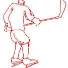 Hockey Player 4 by Richard Butler